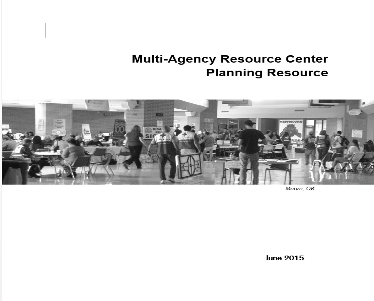 Multi-Agency Resource Center (MARC) Planning Resource